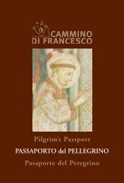 PASSAPORTO del PELLEGRINO - Cammino di Francesco