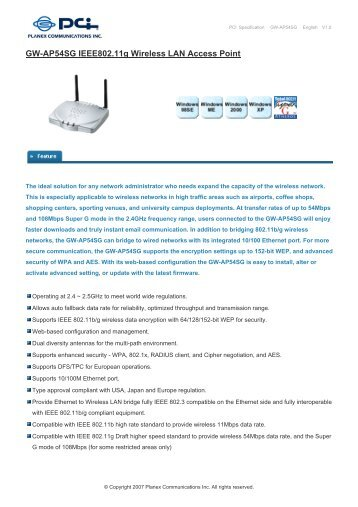 Planex GW-NS54G Driver Download
