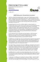 PRESSEMITTEILUNG - BUND LV Niedersachsen e.V.