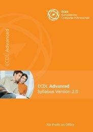 ECDL ECDL Advanced ced Advance