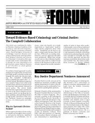 JRSA Forum - April 2001, Volume 19, No. 2 - Justice Research and ...