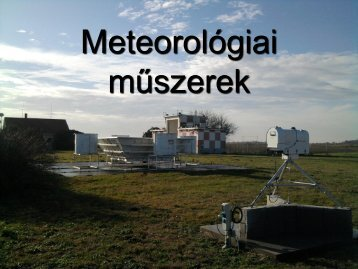 13. Meteorológiai műszerek