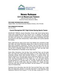 Council Recognizes MLT High School Spring Sports Teams - City of ...