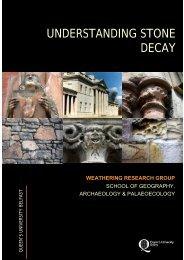 UNDERSTANDING STONE DECAY - Queen's University Belfast