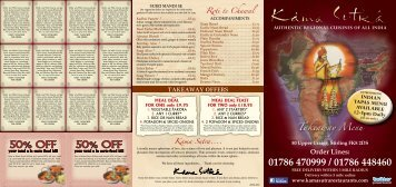 50% OFF 50% OFF - Kama Sutra Restaurant Group