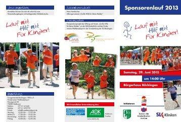 Sponsorenlauf 2013 Lauf mit! Hilf mit! Fur Kinder ... - Kinder Heilbronn
