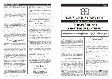 le baptême du saint-esprit - jesus christ is lord