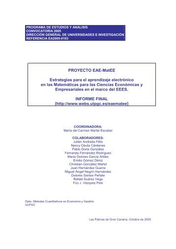 Descripción del modelo pedagógico - ULPGC