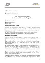 The London Freight Plan and the Transport for London ... - Osmose