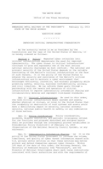 Executive Order - Wired