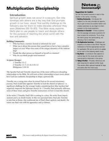 Multiplication Discipleship - BaptistWay Press