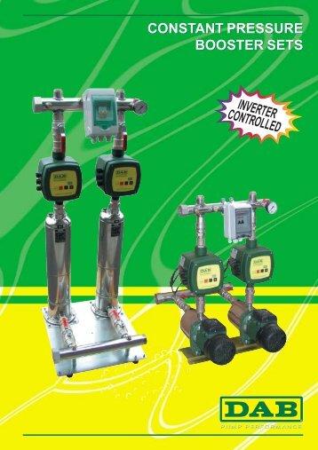 constant pressure booster sets constant pressure ... - Energija plus