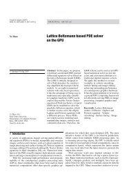 Lattice Boltzmann based PDE solver on the GPU - Computer ...