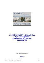 ACON BKV HACCP