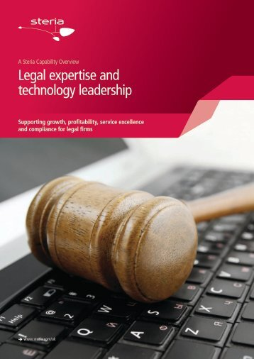Legal expertise and technology leadership - Steria