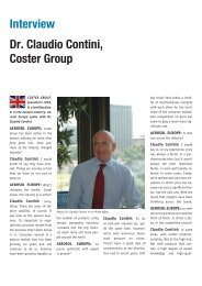 Interview Dr. Claudio Contini, Coster Group