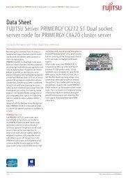 Data Sheet FUJITSU Server PRIMERGY CX272 S1 Dual socket ...