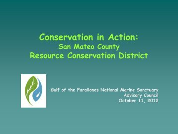 San Mateo County Resource Conservation District - Gulf of the ...