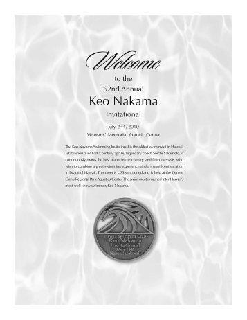 2010 Keo Nakama Invitational - Hawaii Swimming