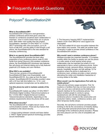 Frequently Asked Questions - Polycom