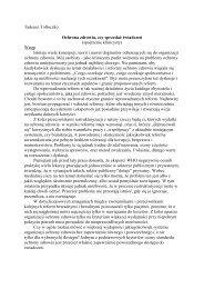 Tadeusz Tołłoczko Ochrona zdrowia, czy sprzedaŜ świadczeń ...