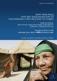 away from iraq: post 2003 iraqi migration to neighboring ... - orsam