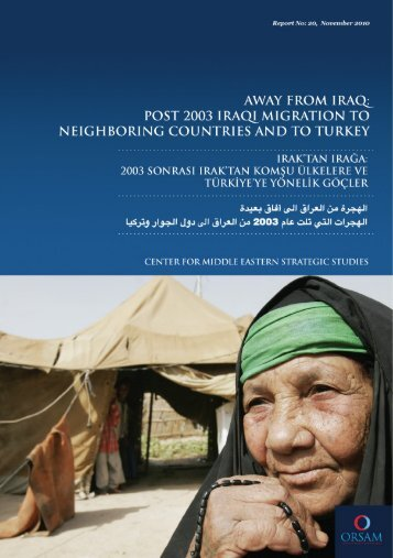 away from iraq: post 2003 iraqi migration to neighboring ... - orsam