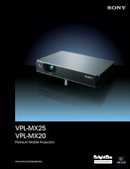 Sony VPL-MX25 - Projector People