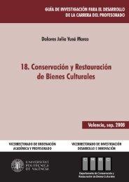 Conservación y Restauración de Bienes Culturales - Universidad ...