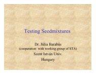 Testing Seed mixtures (Júlia Barabás)