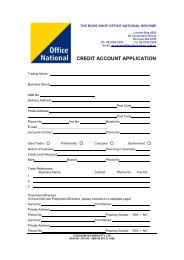 credit account application - Office National
