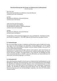 Dienstvereinbarung über den Einsatz von Elektronischen ...