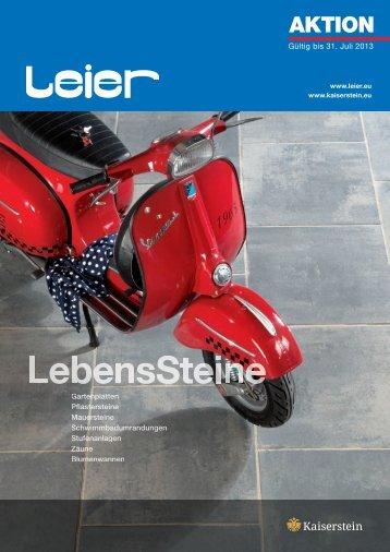 LEIER Aktion Frühjahr 2013 als PDF File (ca. 5,27 MB)