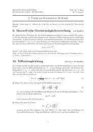 2.¨Ubung zur Statistischen Mechanik 9. Maxwell'sche ...
