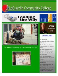 Spring - 2011 Newsletter - LaGuardia Community College - CUNY