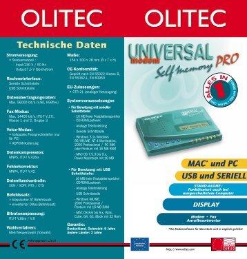 Technische Daten - Olitec