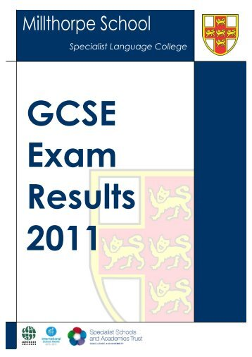 2011 GCSE Results - Millthorpe School York