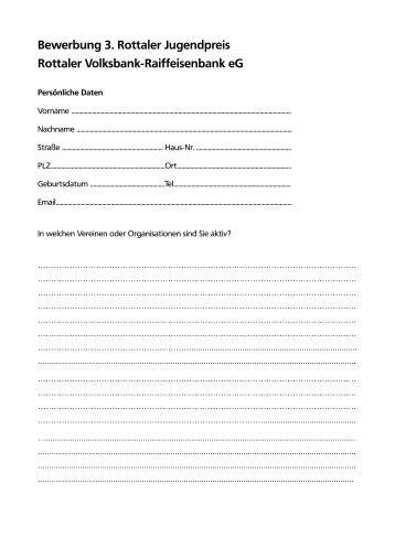Anmeldung 3. Rottaler Jugendpreis - Rottaler Volksbank ...