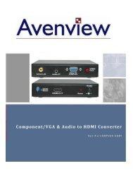 Component/VGA & Audio to HDMI Converter - Aptolution, Inc.