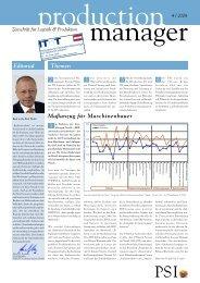 production manager 4/2008 - PSI Logistics GmbH