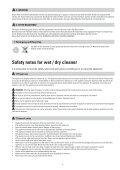 Instruções de segurança para aspirador seco e mol- hado - Page 5