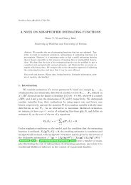 A note on misspecified estimating functions - University of Toronto