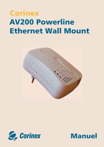 Corinex AV200 Powerline Ethernet Wall Mount