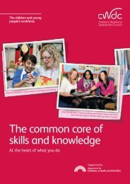 The common core of skills and knowledge - Knowledge Hub