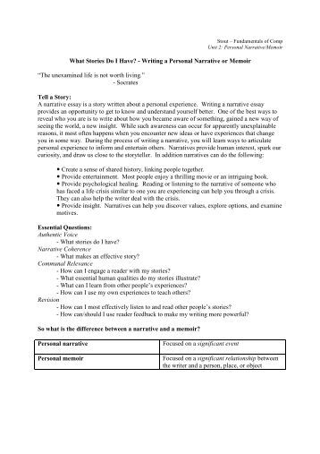 What is and How to write a personal Narrative?