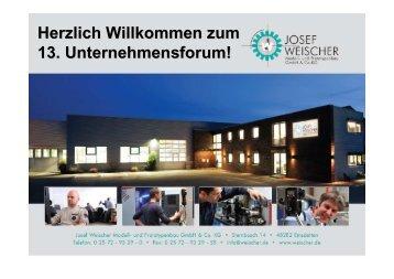 Unternehmensvorstellung Weischer - Unternehmensforum-Emsdetten