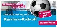 Karriere-Kick-off - Kreishandwerkerschaft Paderborn