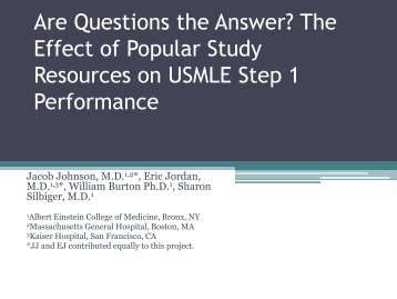 Are Questions the Answer? The Effect of Popular Study Resources ...