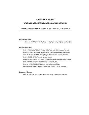 Editorial Board Restul seriilor - Studia
