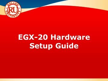 EGX-20 Application Guide - Support